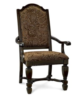Furniture-dining-room-chairs-sale-awe-dark-brown-wooden-lacquer-green-dining-chairs-framing-with-armrest-and-floral-patterned-upholstered-theme-cross-legs-buffer-teak-dining-chairs-restaurant-furnitur