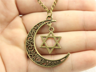 WYSIWYG-Women-Fashion-Harajuku-necklace-Crescent-Moon-necklace-with-star-of-david-charms-moon-and-star